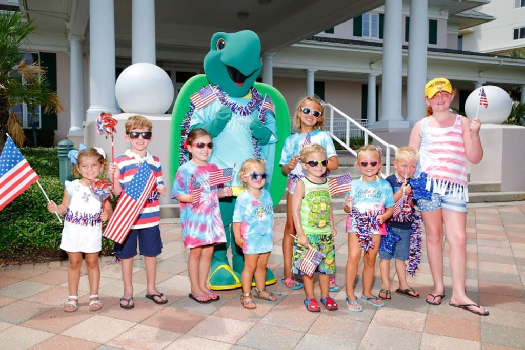 Toby the Turtle Birthday Parties at The Beach Club Resort Gulf Shores Alabama