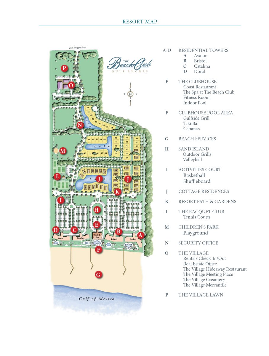 The Beach Club Resort Map