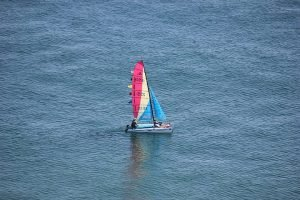 Catamaran sailing in Orange Beach