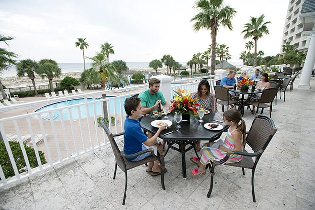 Coast Restaurant - dining on the veranda - The Beach Club Gulf Shores