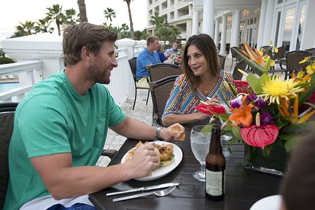 Coast Restaurant - dining on the veranda - The Beach Club Gulf Shores