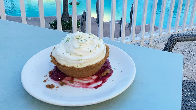 Desert on the Veranda at Coast Restaurant - The Beach Club Resort Gulf Shores Alabama