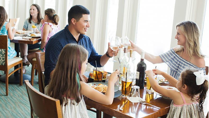 Family Dining at Coast Restaurant - The Beach Club Resort Gulf Shores Alabama