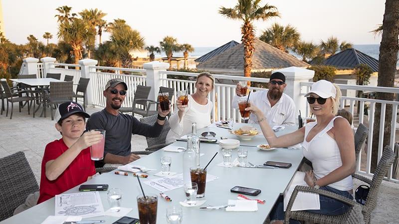 Dining on the Veranda at Coast Restaurant - The Beach Club Resort Gulf Shores Alabama