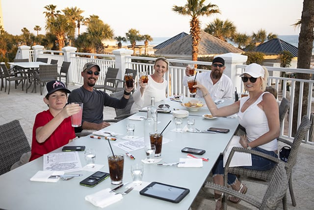 Dining on the Veranda - Coast Restaurant - The Beach Club Gulf Shores AL