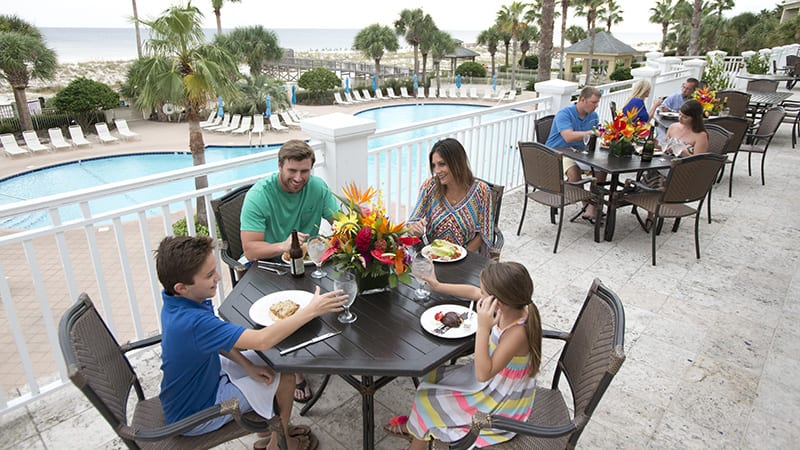 Dining on the Veranda at Coast Restaurant - The Beach Club Resort Gulf Shores Alabama