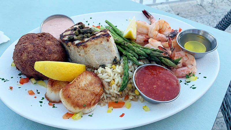 The Gulf Coast Platter at Coast Restaurant - The Beach Club Resort Gulf Shores Alabama