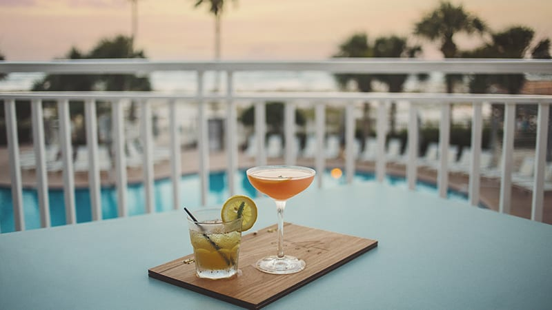 Drinks on the Veranda at Coast Restaurant - The Beach Club Resort Gulf Shores Alabama
