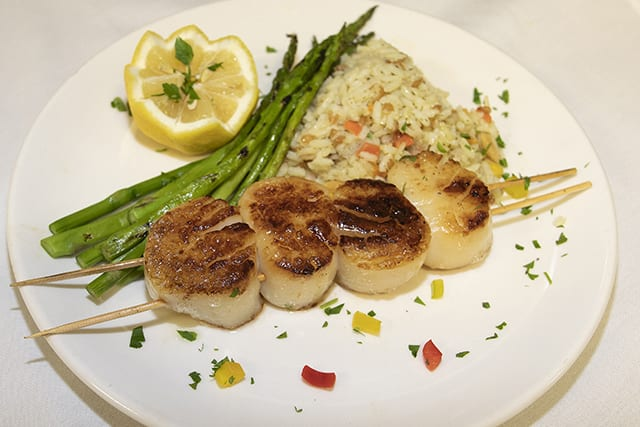 Grilled Diver Scallops - Coast Restaurant - The Beach Club Gulf Shores AL