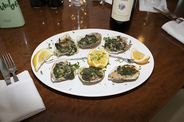 Oysters Rockefeller at Coast Restaurant - The Beach Club Gulf Shores AL