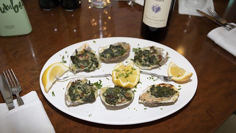 Oysters Rockefeller at Coast Restaurant - The Beach Club Resort Gulf Shores Alabama