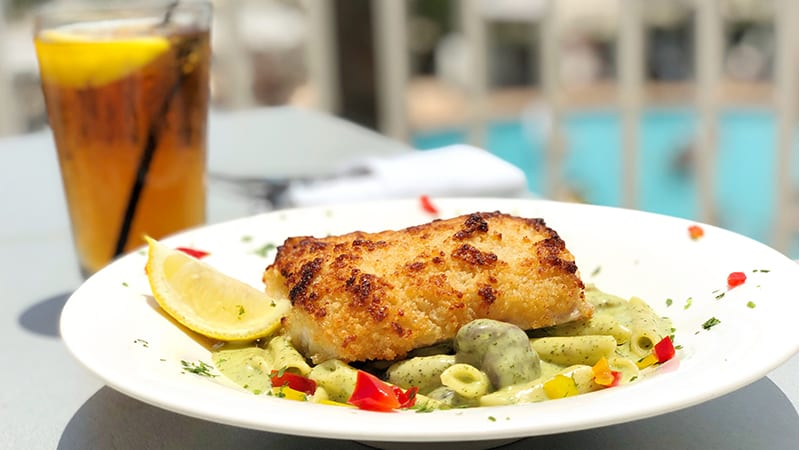 Pecan Crusted Grouper at Coast Restaurant - The Beach Club Resort Gulf Shores Alabama