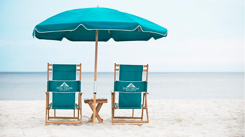 Beach Chair Rentals - The Beach Club Resort Gulf Shores Alabama