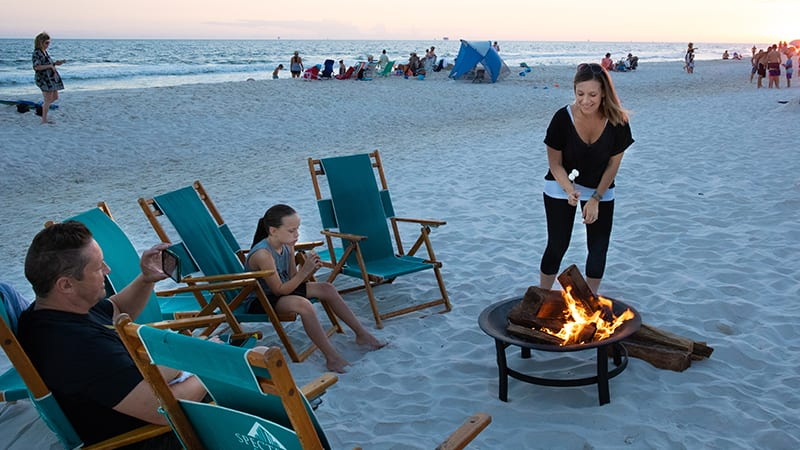 Beach Campfires - The Beach Club Resort Gulf Shores Alabama