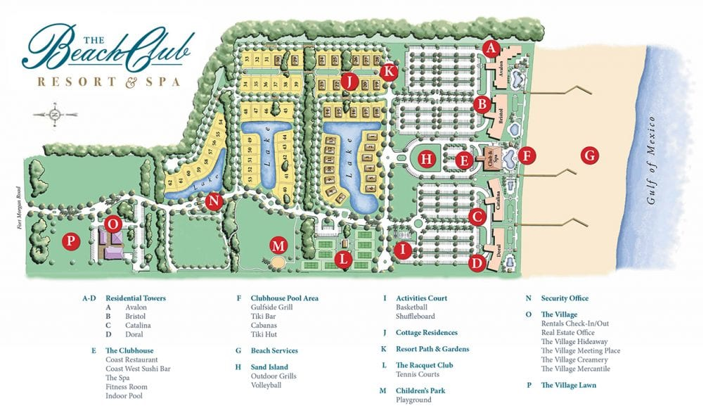 Property Map - The Beach Club Resort and Spa Gulf Shores Alabama