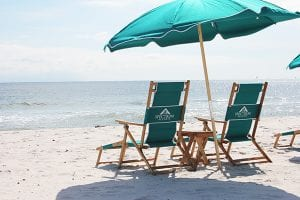 beach chair rentals in Gulf Shores