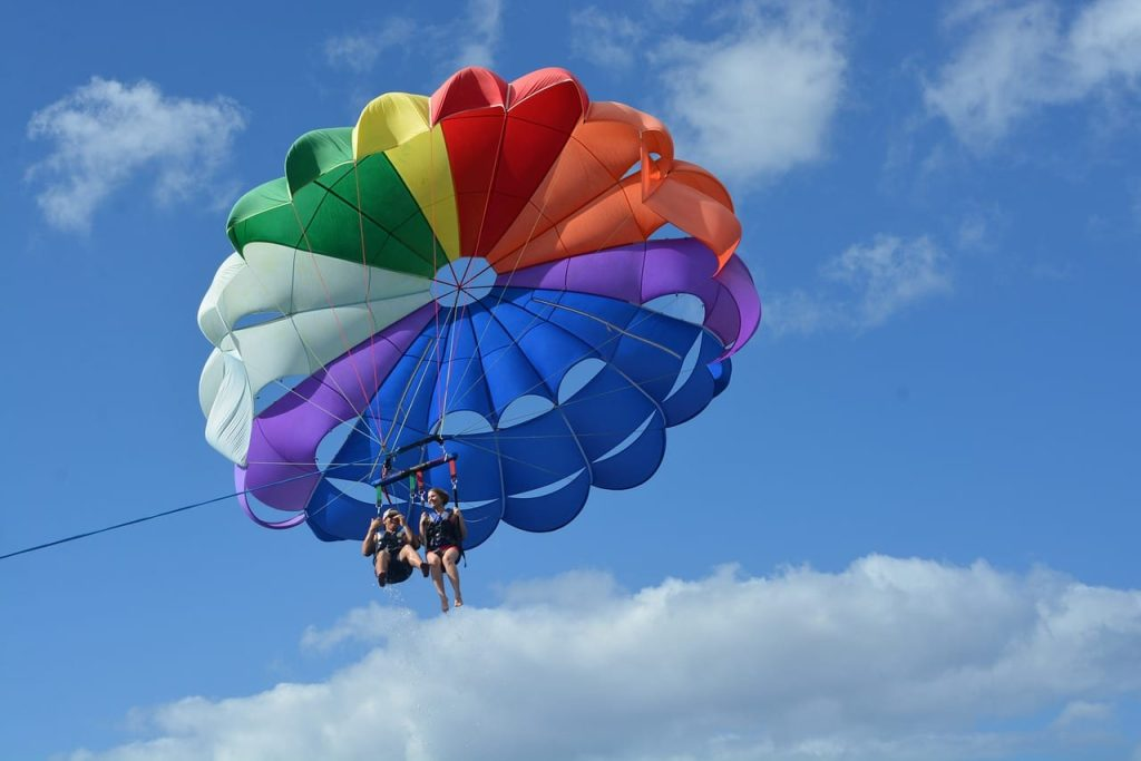 parasailing at the beach club resort