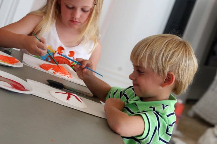 Kids crafts at The Beach Club