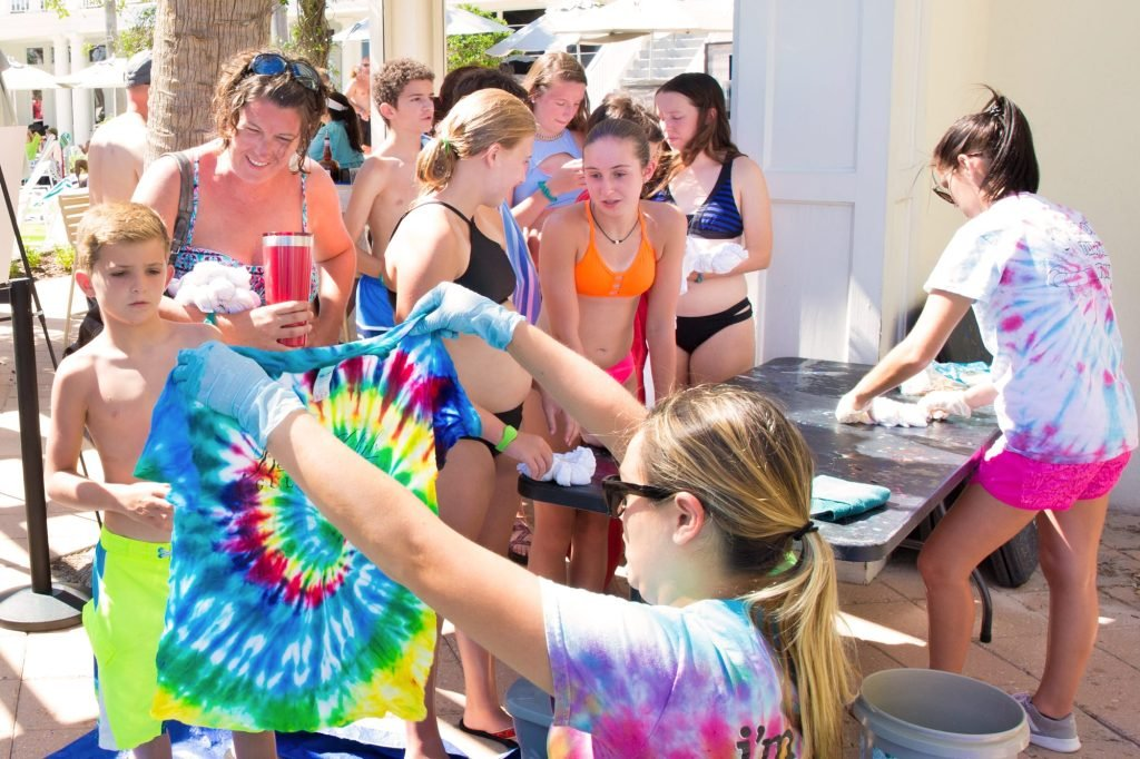 Tie Dye T-shirts Poolside Craft at The Beach Club Resort Gulf Shores Alabama