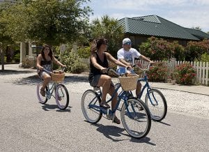 complimentary bike rentals in Gulf Shores