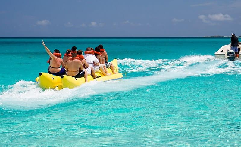 Banana boat rides at The Beach Club Gulf Shores