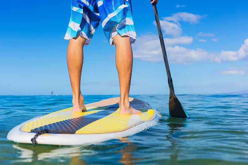 Paddle boarding at The Beach Club Gulf Shores