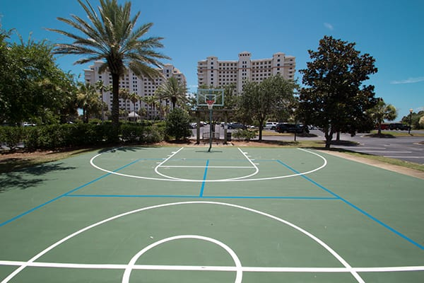 Activities courts at The Beach Club Resort Gulf Shores Alabama