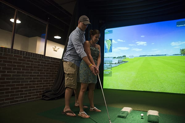 Golf Simulator at The Beach Club Resort Gulf Shores Alabama