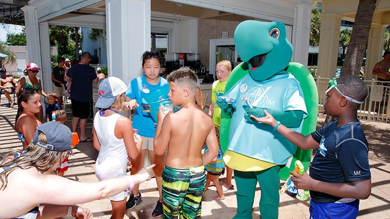 Toby the Turtle Activities for kids at the Beach Club Resort Gulf Shores Alabama