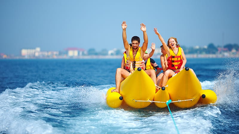 Banana Boat Rides at The Beach Club Resort Gulf Shores Alabama