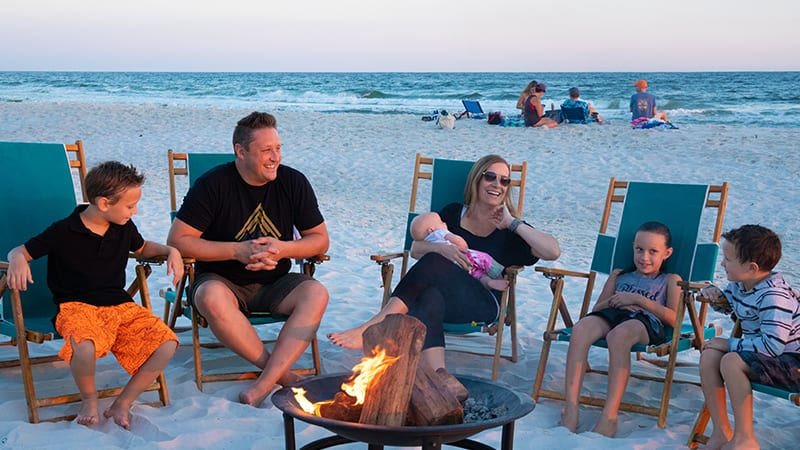 Beach Camp Fires at The Beach Club Resort Gulf Shores Alabama