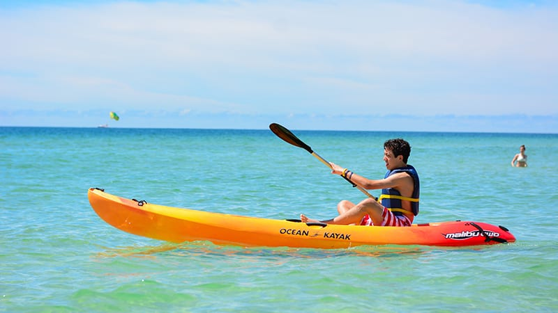 Kayaking at The Beach Club Resort Gulf Shores Alabama