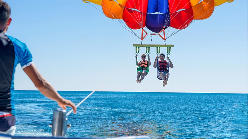 Parasailing at The Beach Club Resort Gulf Shores Alabama