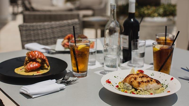 Food on the Veranda at Coast Restaurant - The Beach Club Resort Gulf Shores Alabama