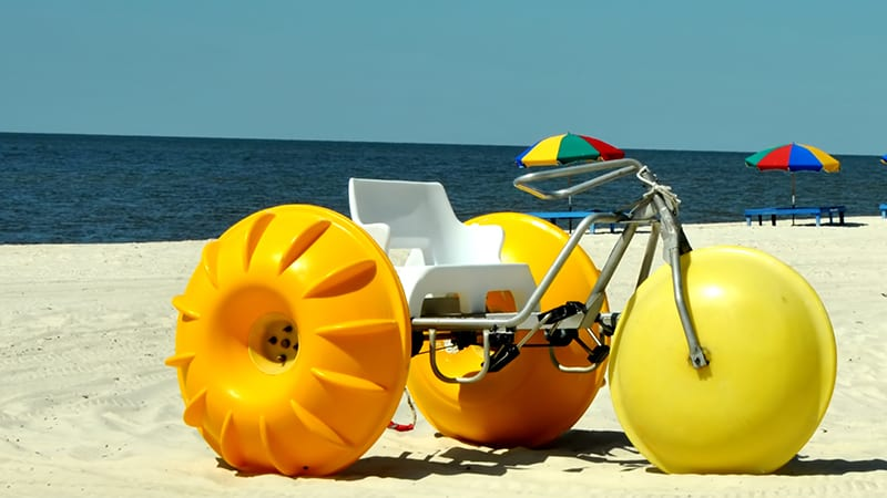 Water Trike Rentals at The Beach Club Resort Gulf Shores Alabama