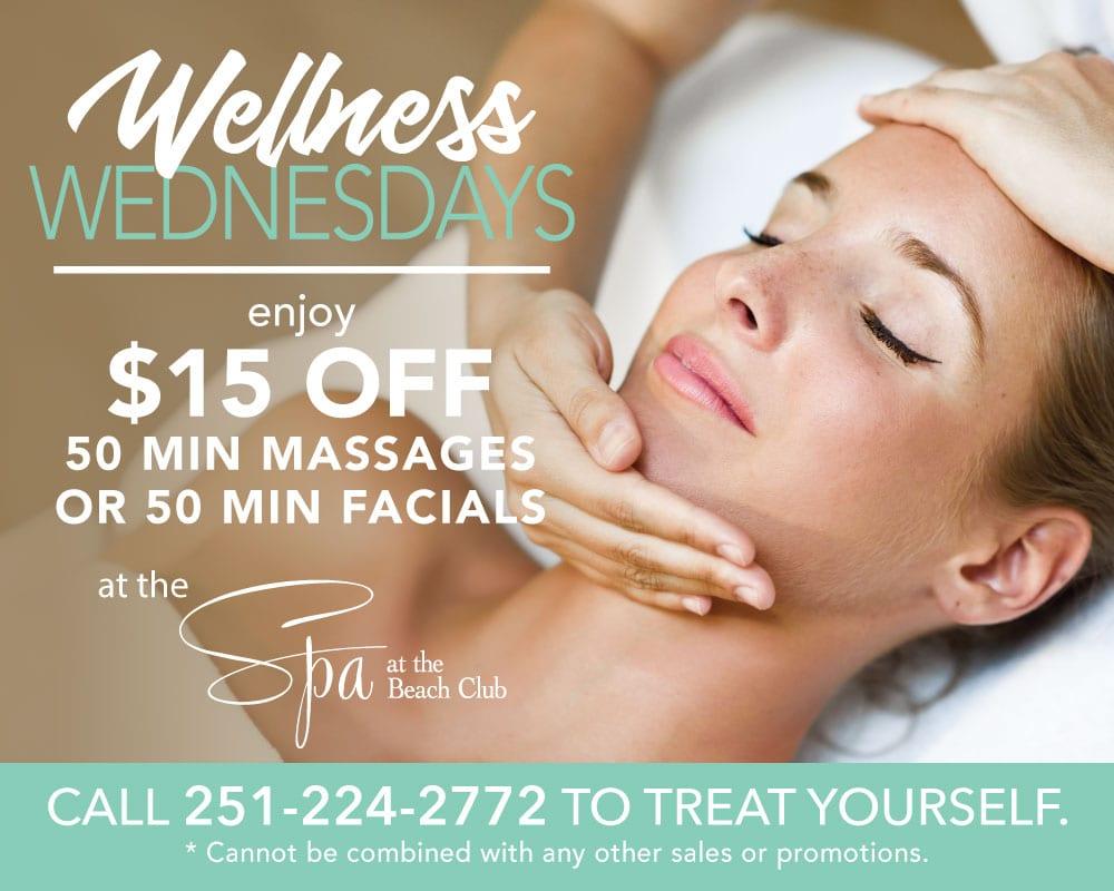 Wellness Wednesdays at the Spa - The Beach Club Resort & Spa Gulf Shores Alabama