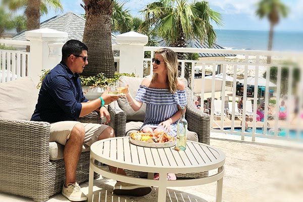 Dinner at the Beach - couples getaway