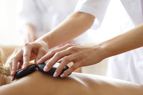 Hot Stone Massage - Spa at the Beach Club