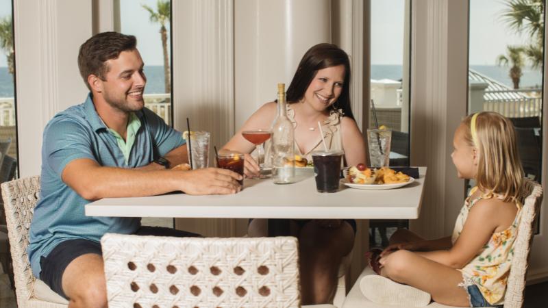 Family at Coast Restaurant
