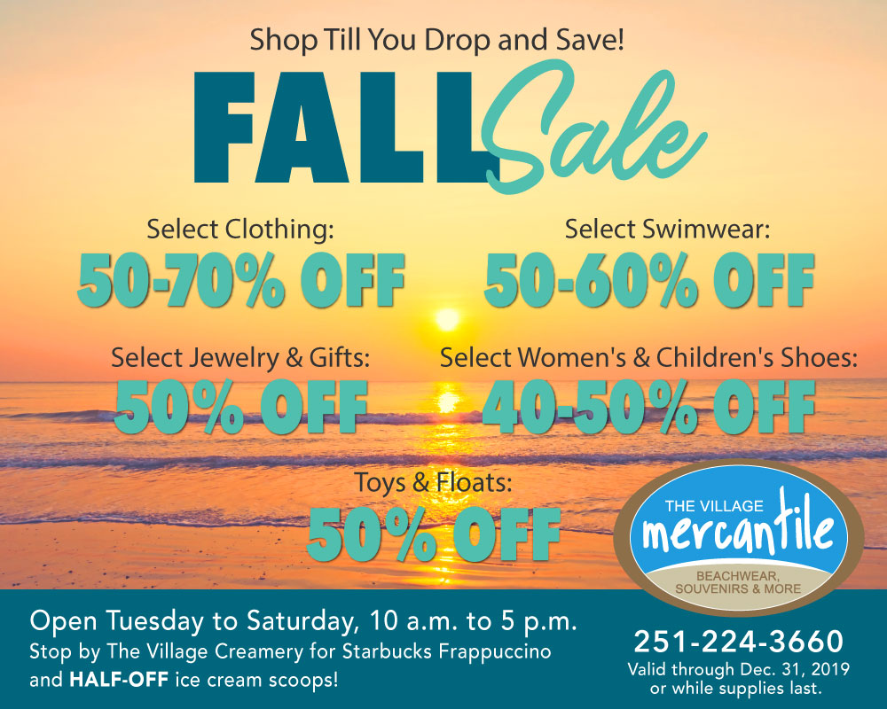 Fall Sales at The Mercantile - The Beach Club Resort & Spa Gulf Shores Alabama