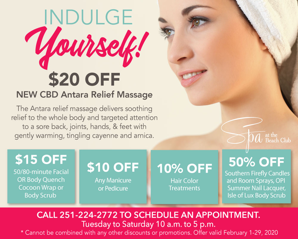 The Spa at The Beach Club February Specials