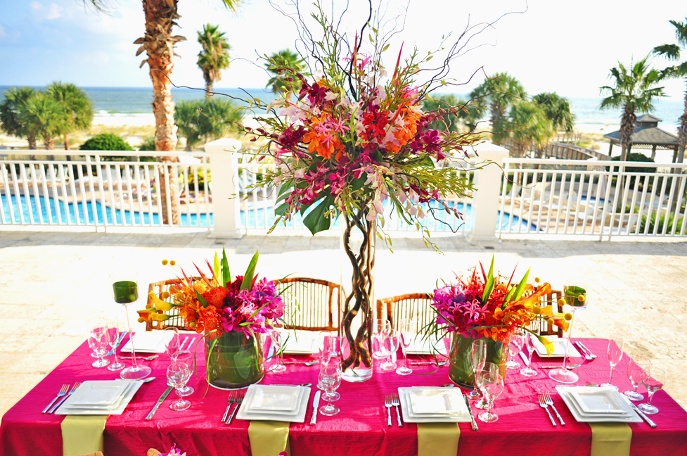 Fall Wedding Reception at The Beach Club