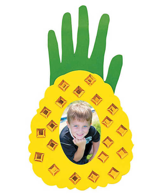 Pineapple Handprint Frame Craft at The Beach Club Resort and Spa Gulf Shores AL