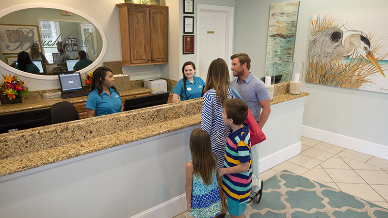 Guest Services & Registration Desk at The Beach Club Spa and Resort Gulf Shores