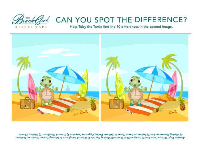 Spot the Difference at the Beach